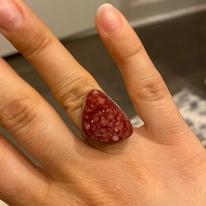 Red Amethyst Sterling Silver Ring